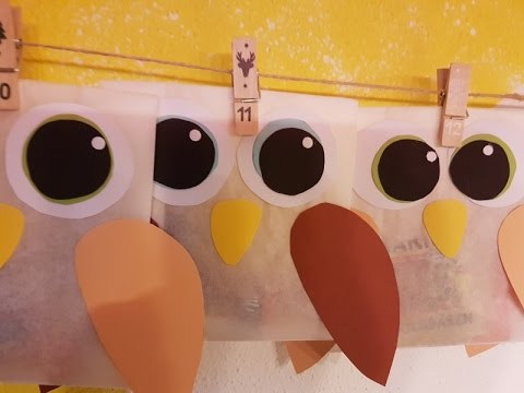 adventskalender einfach und g nstig selbst machen basteln mit kindern diy youtube. Black Bedroom Furniture Sets. Home Design Ideas