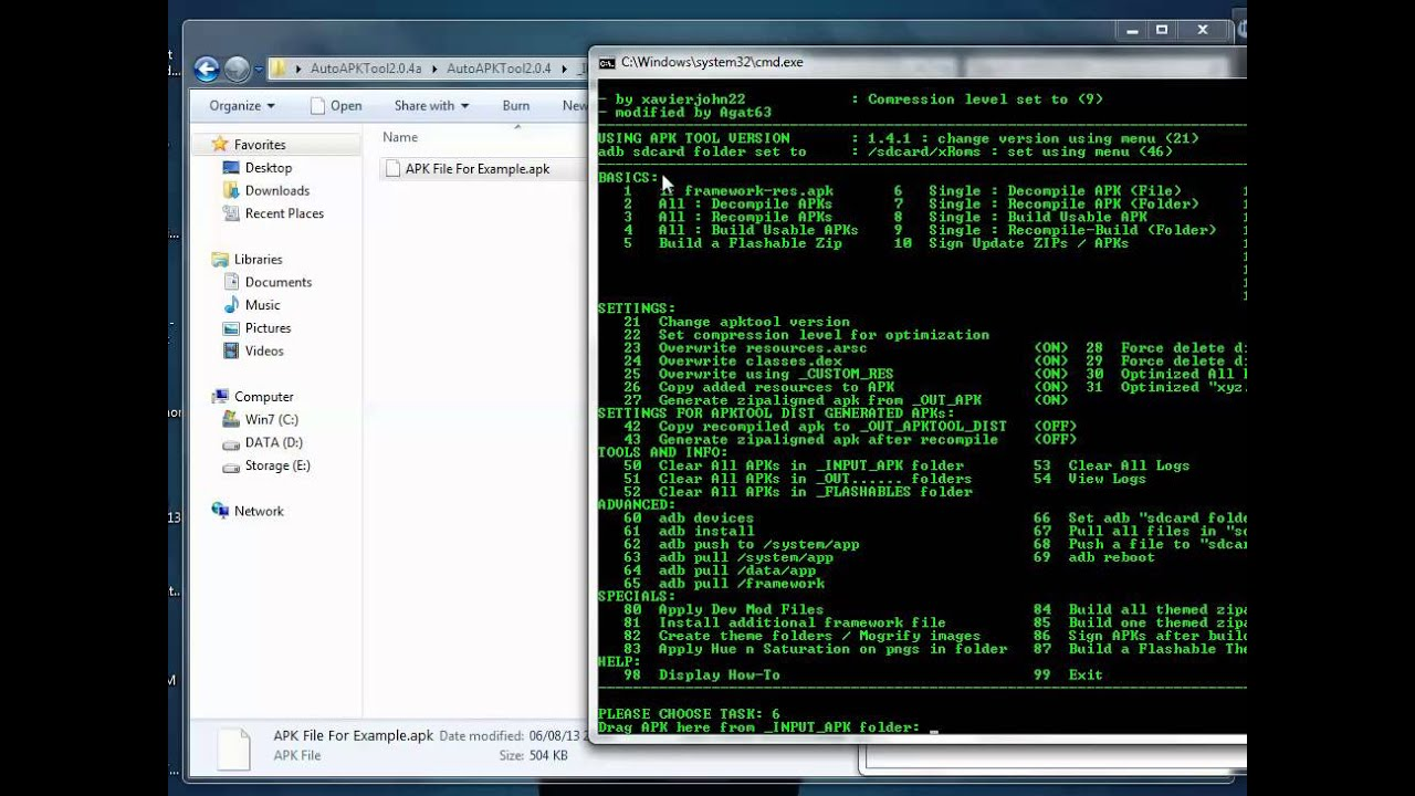 Decompile Or Recompile APK File