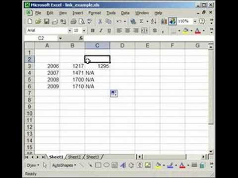 How to link two (multiple) workbooks and cells in Excel - YouTube