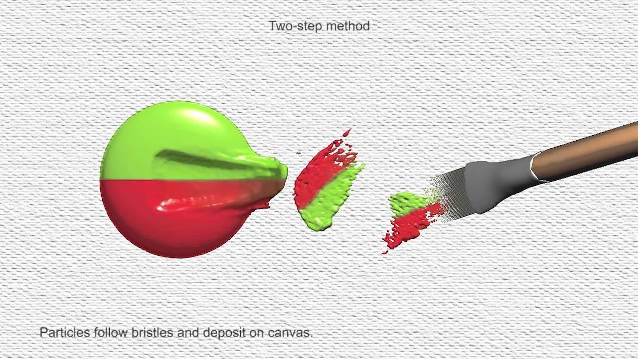 Wetbrush: GPU-based 3D Painting Simulation at the Bristle