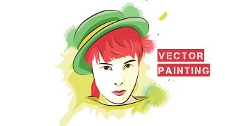 How to Draw Vector Painting chelsea Islan - Illustrator Tutorials