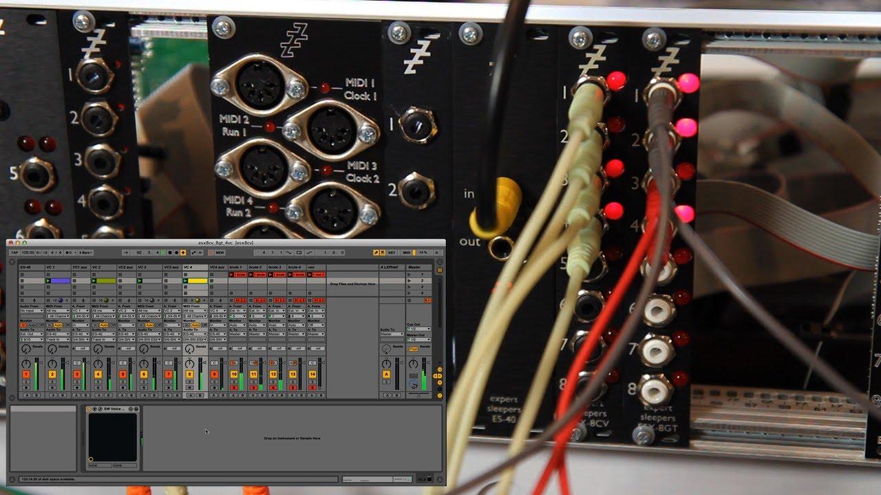 expert sleepers es-40/esx-8cv/esx-8gt demo - youtube