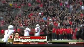 .@RFootball QB Gary Nova receives game ball from ESPN analyst Robert Smith