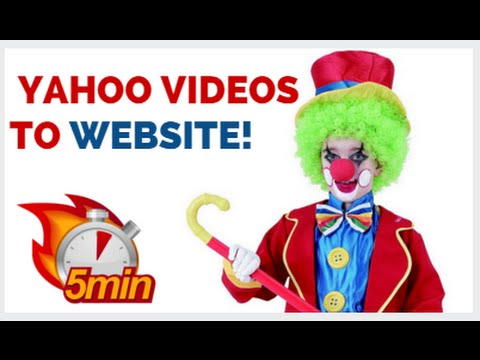 Embedding Yahoo Videos - How To Add Yahoo Video To Your Website!