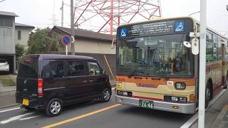 神奈川中央交通 中山営業所 三菱ふそうエアロスター な175号車  まさかの前面運賃、乗り降り字幕故障
