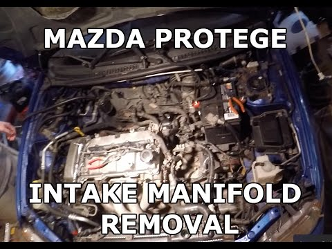 Mazda Protege intake manifold removal and replacement