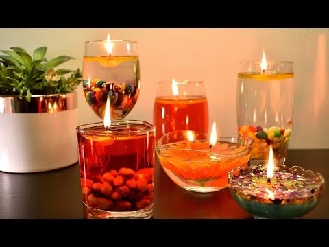 Water Candles   Diwali and Christmas Decoration Ideas   Floating Candles for Christmas  Trending diy