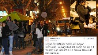 Así vivió #Chile el #Terremoto de 8.4 Richter - 16/septiembre/2015 - Recopilación