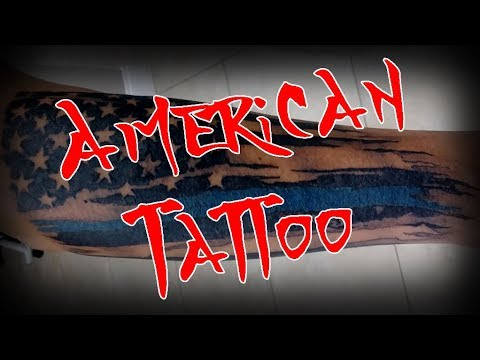 Tattooing A Law Enforcement American Flag