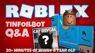 ROBLOX tinfoilbot 20 minoute Fragen und Antworten | alles ÜBER ME!!!!