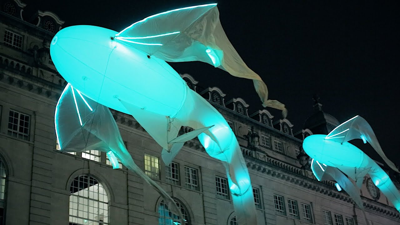 Lumiere London: famous light festival and art installations - YouTube