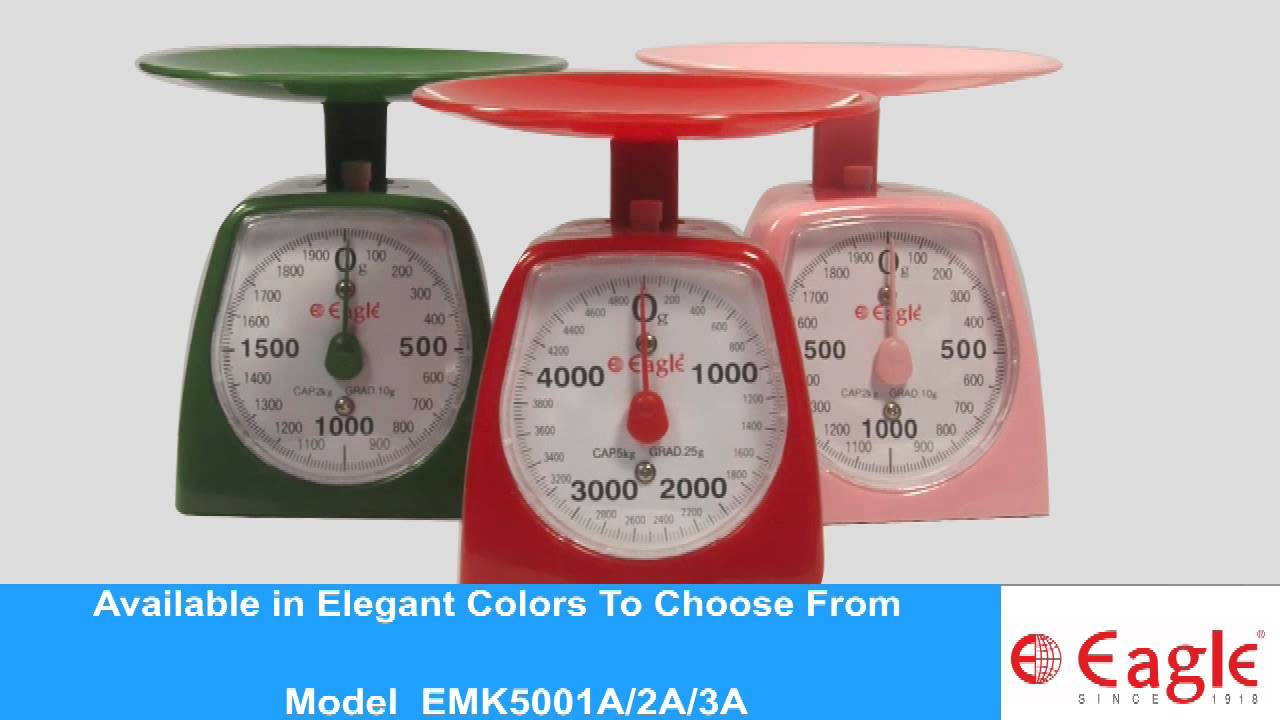 Mechanical Kitchen Weighing Scale Emk5001a Youtube