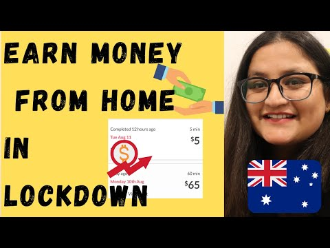 How to earn money from home during Lockdown in Mel Australia   INT'L Students   With Proven Results