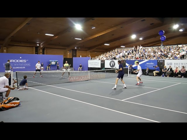 The tennis legends and the Scottish juniors exhibition match l Brodies Tennis Invitational