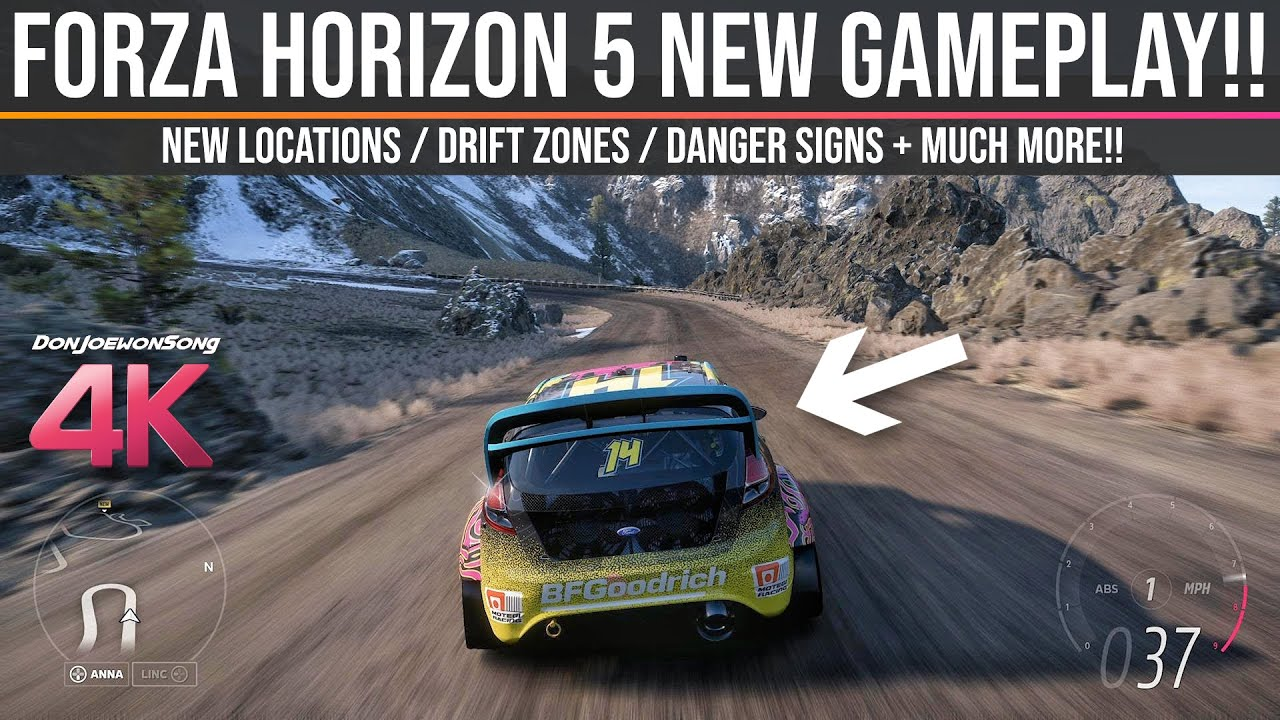 Forza Horizon 5 - NEW 4K Gameplay / Drift Zones / Danger Signs / Locations & MUCH MORE!!! - Don Joewon Song