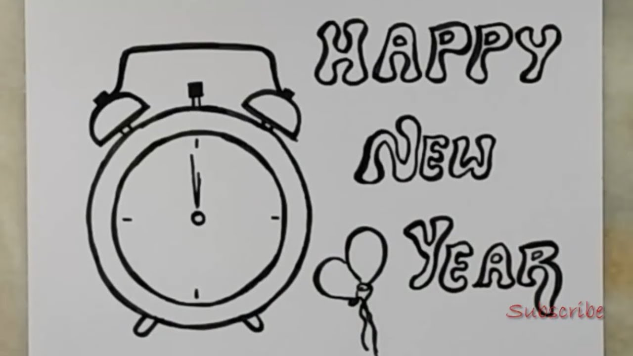 Happy New Year Drawing 94