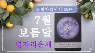 [별자리운세]7월 보름달에 관한 6가지 이야기 | 물병자리에서 뜨는 7월 보름달에 관한 이야기 Top 6