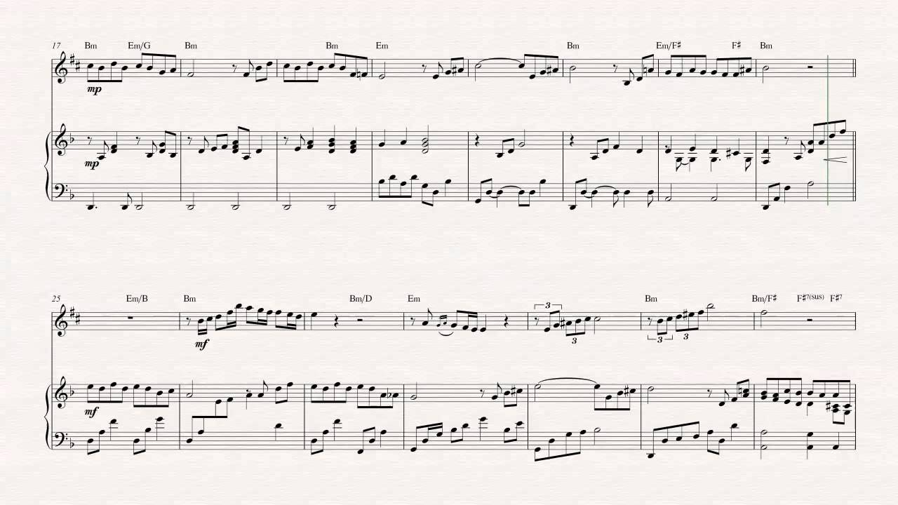 Alto Sax - The Godfather - Theme Song - Sheet Music, Chords, & Vocals