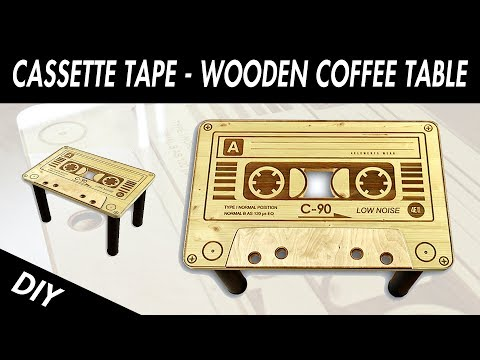 How To Make  Simple Wooden Coffee Table - Cassette tape -