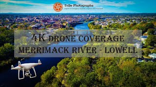 4K Drone Coverage | Merrimack River by Lowell