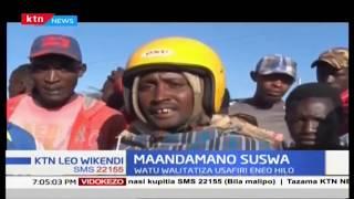 Shughuli za usafiri zilisitishwa kwa kwenye barabara kuu ya Narok kwenda Mai Mahiu