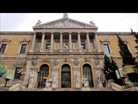 Places to see in ( Madrid - Spain ) National Library of Spain