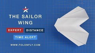Fold 'N Fly ✈ The Sailor Wing Paper Airplane