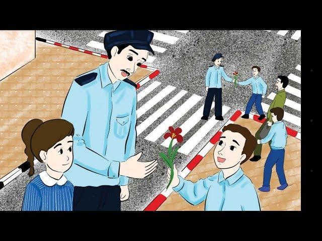 قصة يوم المرور (الدرس الثامن )  ونص الاستماع والمفردات والنشيد