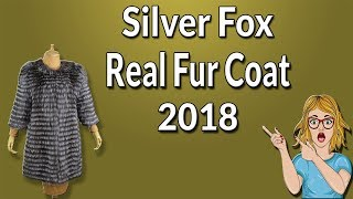 New Silver Fox Real Fur Coats 2018 !! BFFUR Real Fur Coat