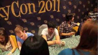 Darren Criss and cast from A Very Potter Musical meet fans at Leakycon 2011