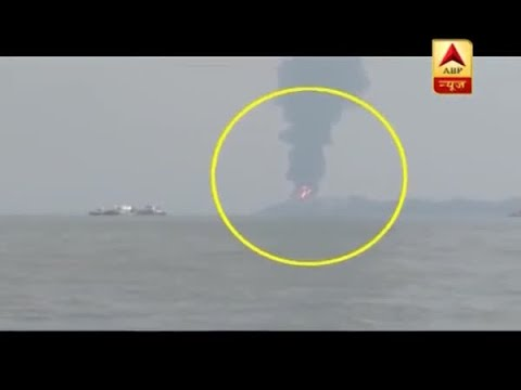 Massive fire break out at oil tank farm on Butcher Island off Mumbai
