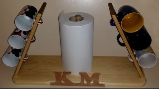 Personalized Cup/mug Holder - My First Woodworking Project