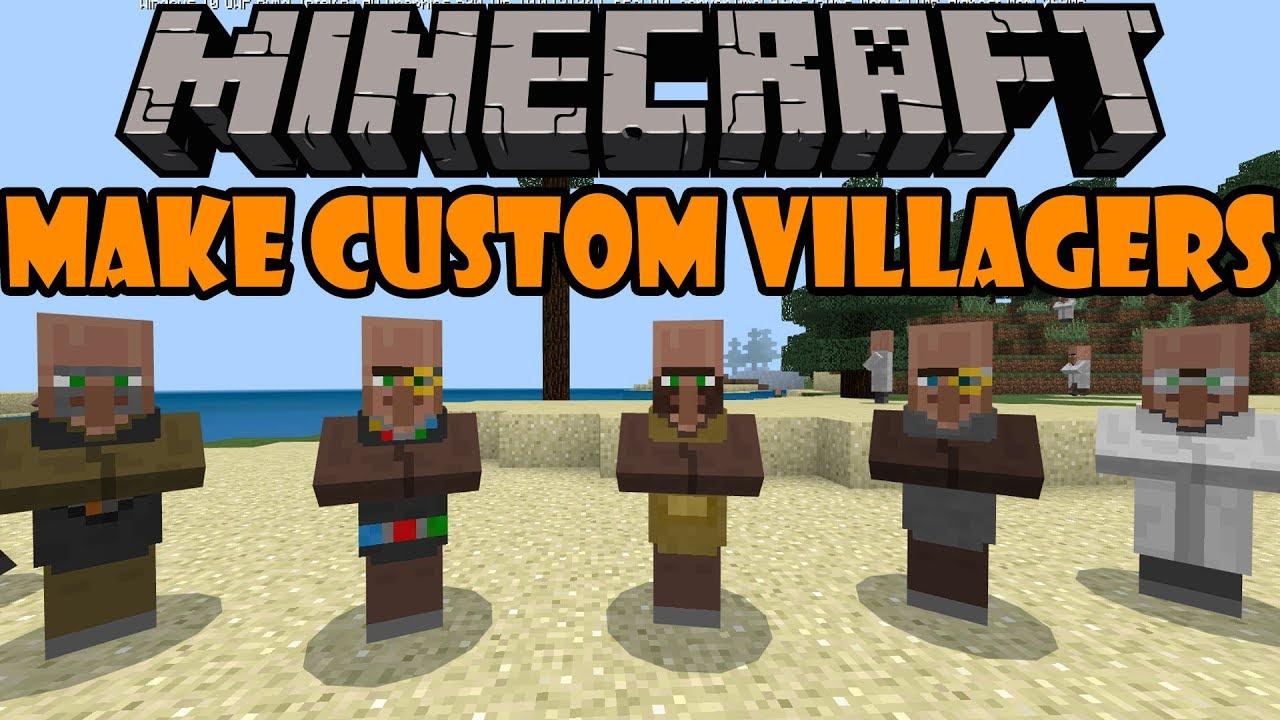Minecraft Bedrock: How to Make Custom Villagers!