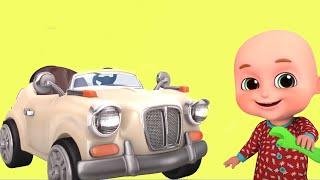 Car Garage | Bobo pretend to save the Car | gecko garage - Kids  Unboxing Jugnu Kids