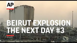 Early morning in Beirut area devastated by blast