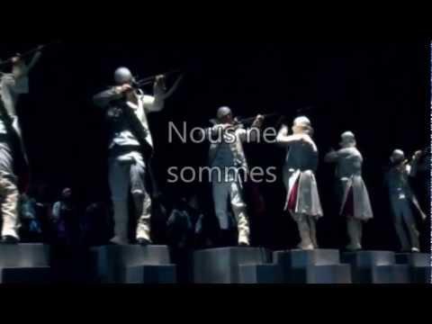 Nous ne sommes Lyrics/paroles 1789 les Amants de La Bastille/Mathieu Carnot