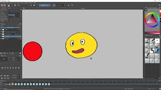 Krita Animation Tutorial - Part 2: Coloring with the Fill Tool