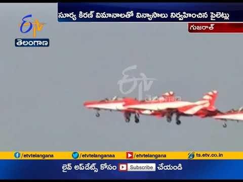 IAF Aerobatic Team 'Surya Kiran' Holds Air Show   at Kutch in Gujarat