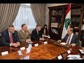 Head of UN Peacekeeping Jean-Pierre Lacroix meets high ranking government officials in Lebanon