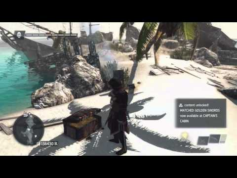 Assassin's Creed 4 - How to Get the Golden Swords