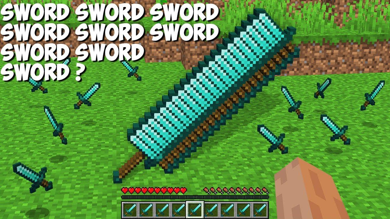 What if you CRAFT a SWORD SWORD SWORD SWORD SWORD SWORD SWORD SWORD in Minecraft ?