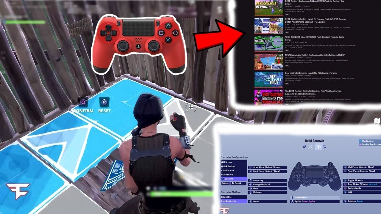 trying other youtubers best edit button binds on console fortnite - best edit button fortnite console