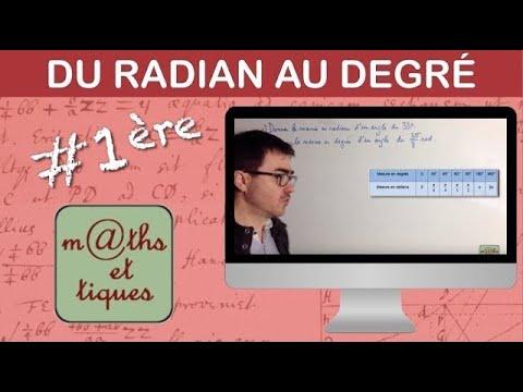 Passer du radian au degré et réciproquement - Première