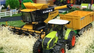 BRUDER TOYS Combine Harvester at work! | Learn farming | Kids videos