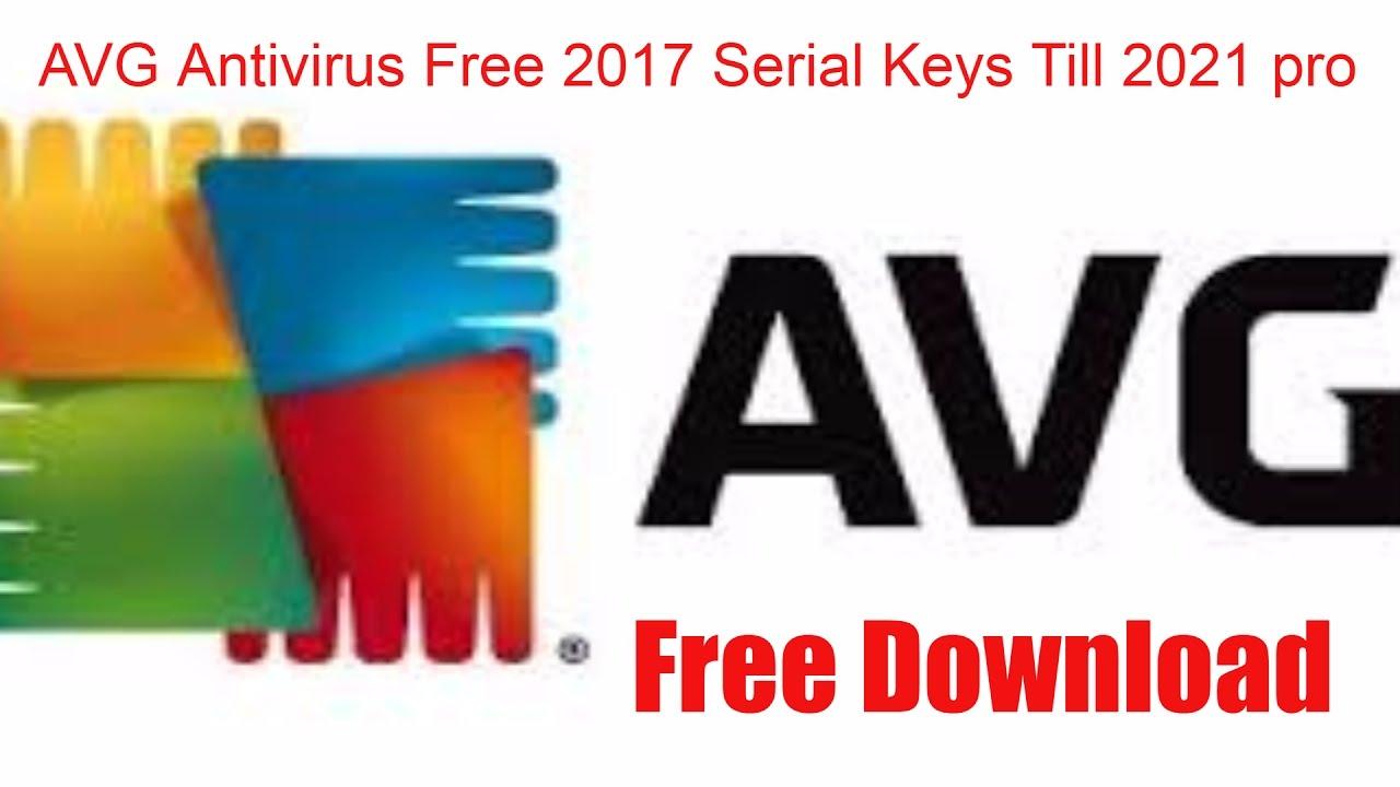 AVG Antivirus Free 2017 Serial Keys Till 2021 pro