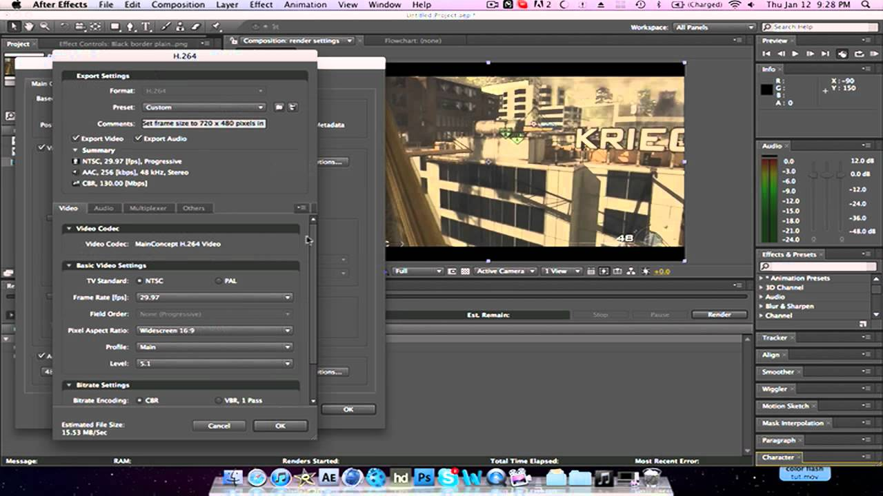 Best Render Settings | Adobe After Effects CS4 | By: Justin - YouTube