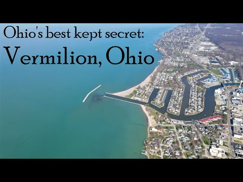 Vermilion, Ohio Aerial View - Beautiful Day on the Water, Easter Sunday, 4/4/2021