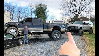 DURAMAX SAVES A MASSIVE STUCK F450... 10,000lb Winch Put to the TEST!!!