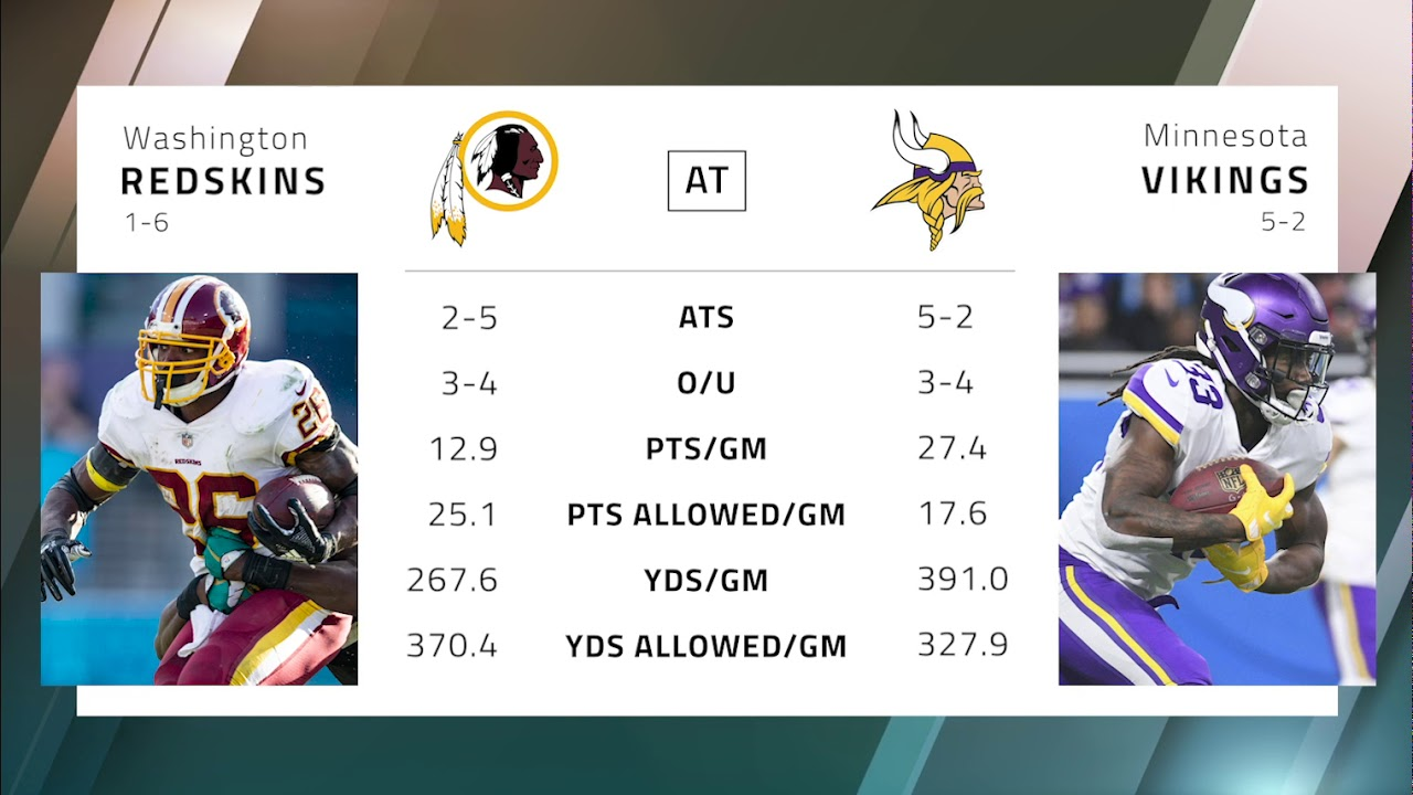 Redskins vikings betting preview nfl spread betting spreadsheet tracker