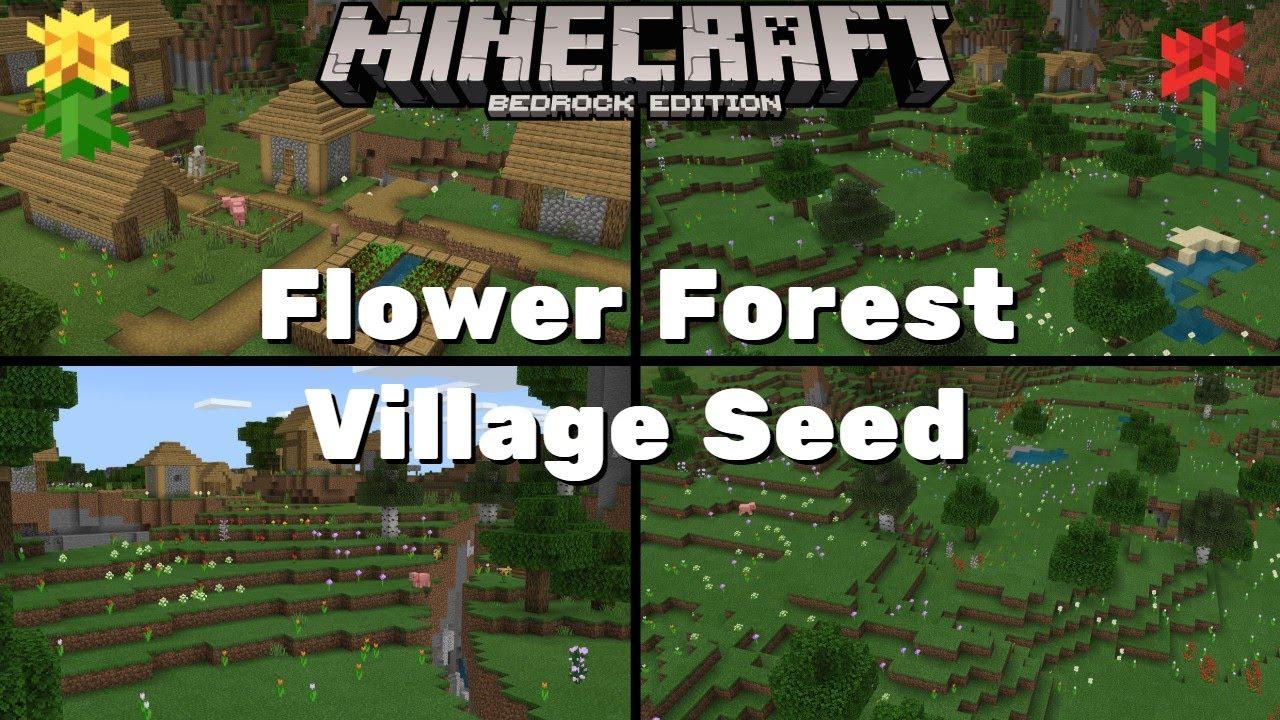 Flower Forest Village Seed - Minecraft Bedrock Edition 8.86